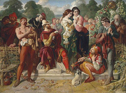 Daniel Maclise - The Wrestling Scene in As You Like It