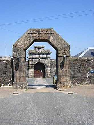HM Prison Dartmoor - Main gates of Dartmoor Prison