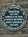 David Greig 1865-1952 founder of the chain of grocers and Hornsey Schools' benefactor lived here.jpg