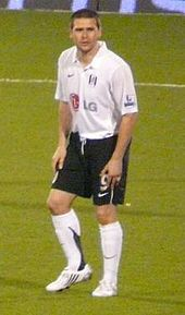 David Healy playing for Northern Ireland