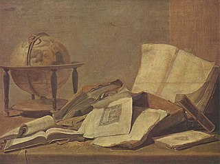 Still-life with Books and Globe