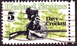 Davy Crockett 1967 Issue, 5c