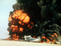Dawson's field aircrafts blown up in Jordan, 12 September 1970.png