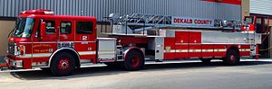 DeKalb County, Georgia - DeKalb County fire truck in Brookhaven