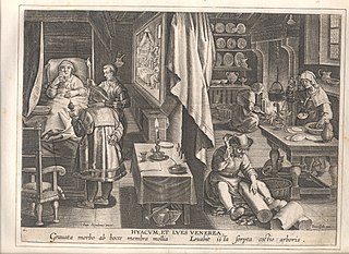 The discovery of Guaicum as a cure for veneral infection