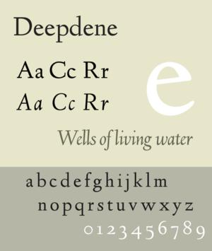 Deepdene (typeface) - Image: Deepdene specimen
