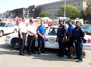 United States Pentagon Police - Defense Protective Service officers at the Pentagon in September 2001.
