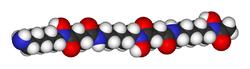 Spacefill model of deferoxamine