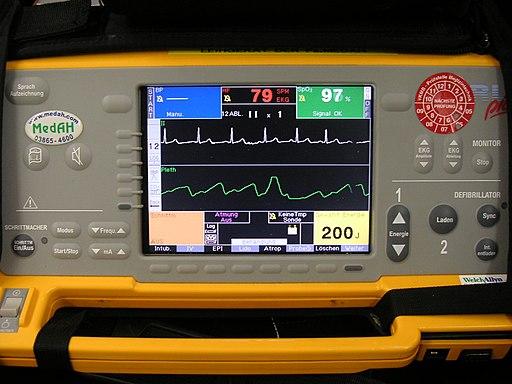 Defibrillator Monitor Closeup