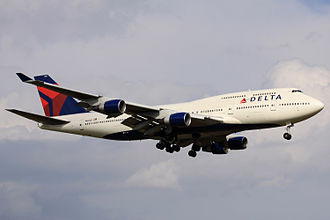 Northwest Airlines Flight 85 - The accident aircraft in service with Delta Air Lines at Narita, Nov 8, 2009