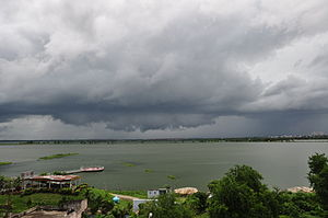 Dense cloud over Nalaban Lake, Kolkata.