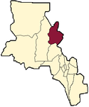 location of Santa María Department in Catamarca Province