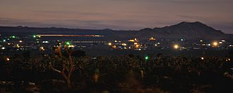 Twilight - Long exposure of astronomical twilight (dusk) in a small town in the Mojave desert
