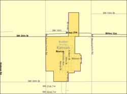 Detailed map of Benton, Kansas