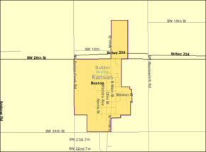 Detailed map of Benton, Kansas.png