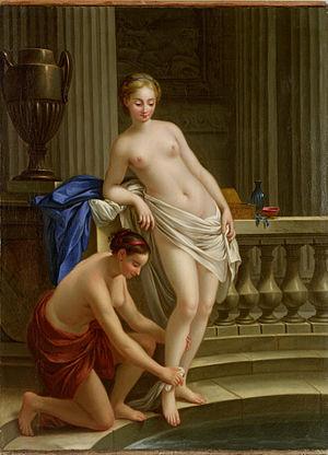 Joseph-Marie Vien - Two Women Bathing, Joseph-Marie Vien, Musée de Cahors Henri-Martin