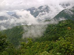 Dhankuta in rainy season