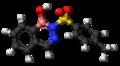 Diazaborine 3D ball.png