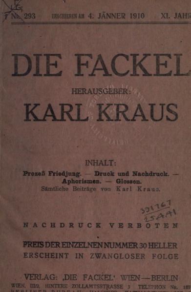 File:Die Fackel Nr. 293.djvu