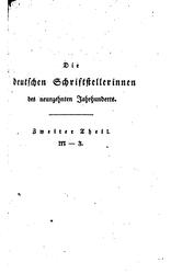 Die deutschen Schriftstellerinnen des neunzehnten Jahrhunderts, Band 2, M-Z