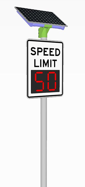 Smart traffic light - Digital speed limit sign for variable speed limits