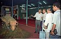 Dignitaries Watching Ankylosaurus - Dinosaurs Alive Exhibition - Science City - Calcutta 1995-06-15 029.JPG