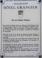 Dijon Hotel GRANGIER plaque information.jpg