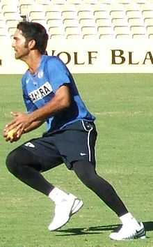 Karthik at fielding practice.