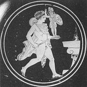Diomedes with the Palladium approaches an altar