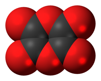 Dioxane tetraketone - Image: Dioxane tetraketone 3D spacefill