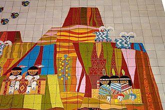 Mary Blair - Image: Disneys contemporary resort mosaic closeup