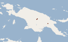 Distribution of Aproteles bulmerae.png