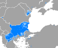 Distribution of Bulgarian speakers on the Balkans and surrounding areas.png