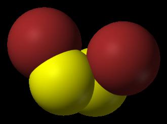 Disulfur dibromide - Image: Disulfur dibromide 3D vd W