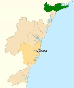 Division of Paterson - Division of Paterson in New South Wales, as of the 2016 federal election.