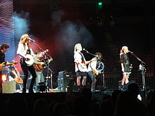 Dixie Chicks performing at Frank Erwin Center on December 4, 2006 in Austin, Texas during the Accidents & Accusations Tour.