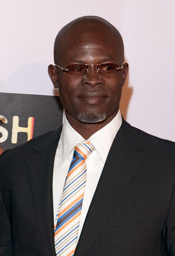 English: Beninese actor Djimon Hounsou arrive ...