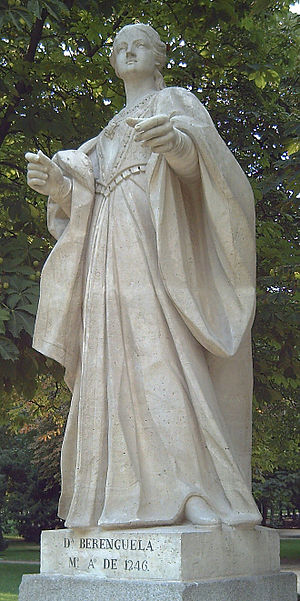 Berengaria of Castile - 1753 statue in Madrid