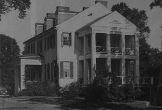 George H. Steuart (politician) - Steuart Plantation house at Dodon, on the South River near Annapolis, built c1800.