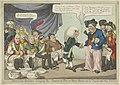 Dokter Napoleon zet de Europese vorsten op de pot, 1808 Doctor Boney - bringing the powers to pot, or Iohn Bull and his friends rather shy (titel op object), RP-P-1990-261.jpg
