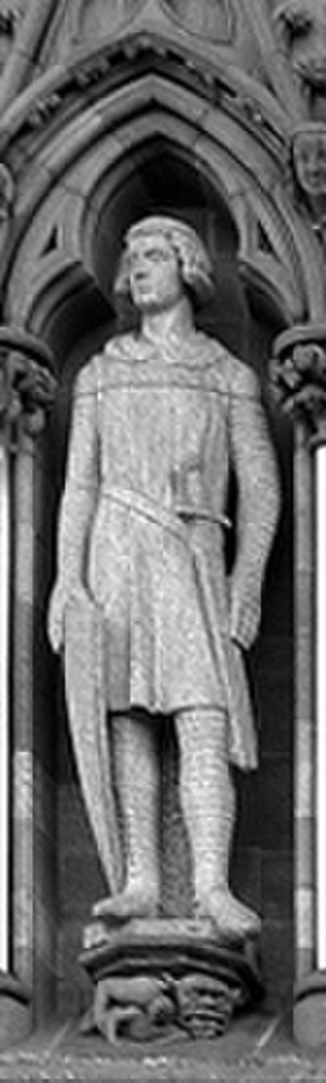 Magnus Erlendsson, Earl of Orkney - Statue of St. Magnus on the wall of Nidaros Cathedral.