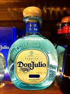 Don Julio Brand of tequila produced in Mexico