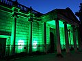 Dover House illuminated green as memorial to Grenfell Tower fire.jpg