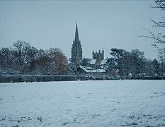 Downing College Paddock in snow - Feb 2009.JPG