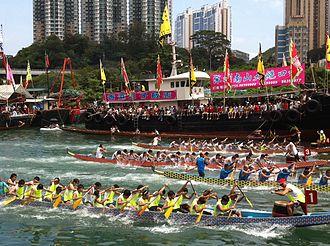 Dragon boat - Dragon boats racing in Hong Kong