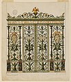 Drawing, Design for a Sacristy Gate of a Chapel of the Torlonia Family, 1845 (CH 18129293).jpg