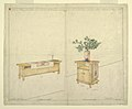 Drawing, Piano Bench and Taboret, Henry J. Allen Residence, Wichita, KA, 1917 (CH 18800303).jpg