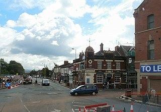 Droylsden town in Tameside, Greater Manchester, England