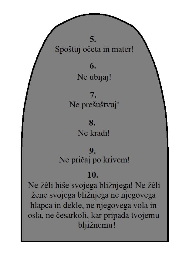 Druga plošča zapovedi