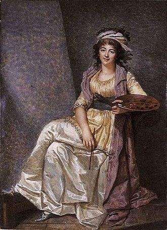 François Dumont (painter) - Ivory miniature of Marguerite Gérard by François Dumont, 1793.